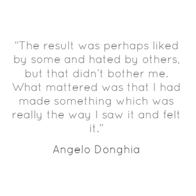 """Quote of the Day: On decorating the family tailoring shop in Vandergrift, PA """"The result was perhaps liked by some and hated by others, but that didn't bother me. What mattered was that I had made something which was really the way I saw it and felt it."""" - Angelo Donghia"""