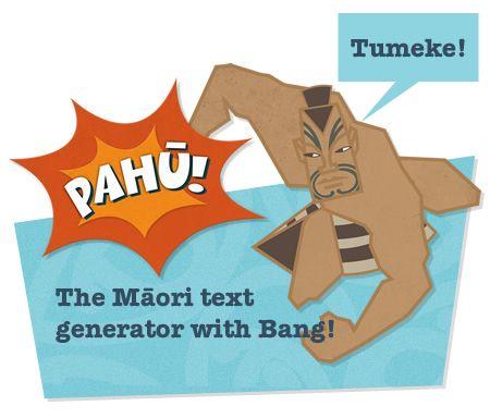 Pahu.maori.nz - replace your Lorem Ipsum with Māori... Boom!