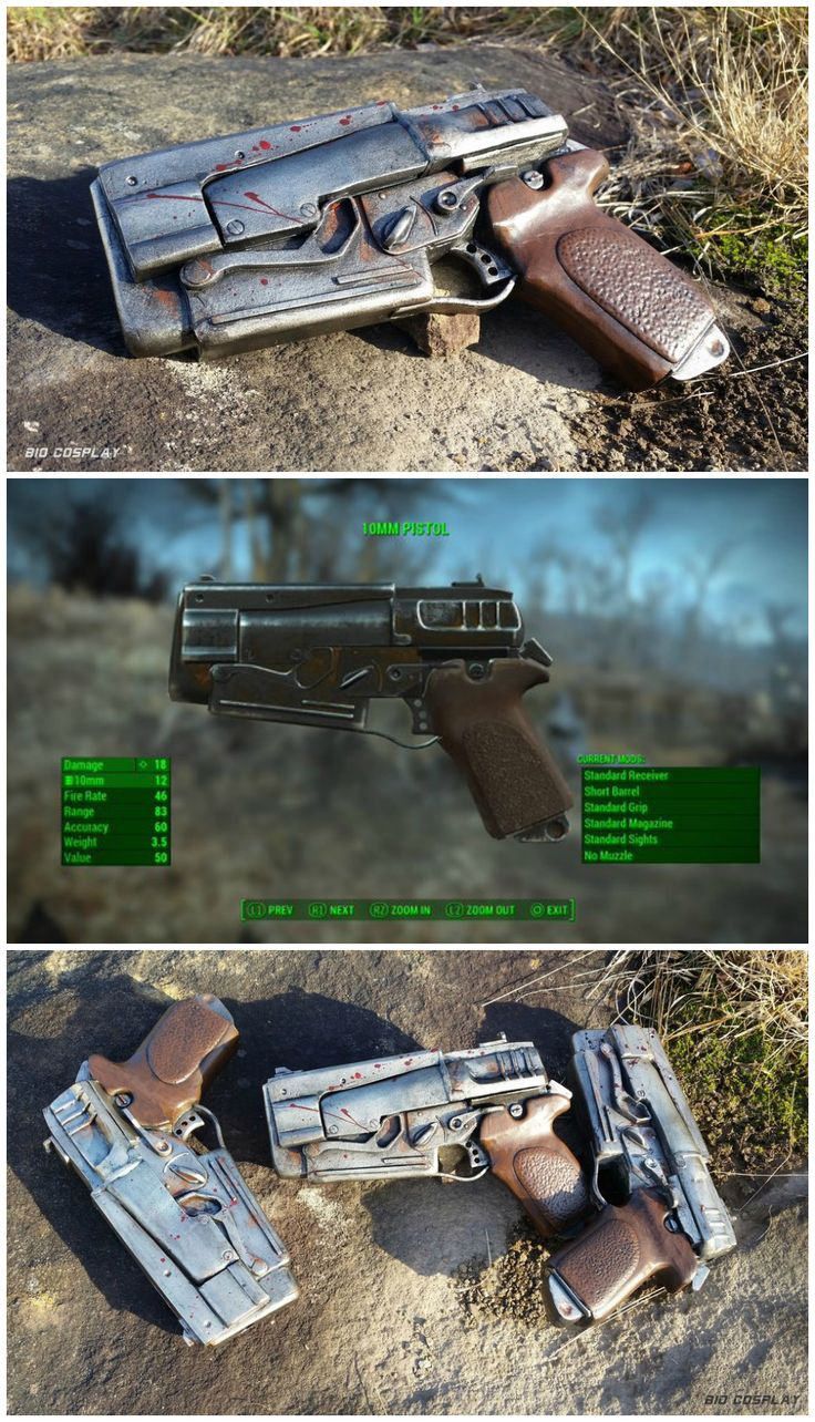 Build your own Fallout 4 10mm Pistol prop out of EVA foam.