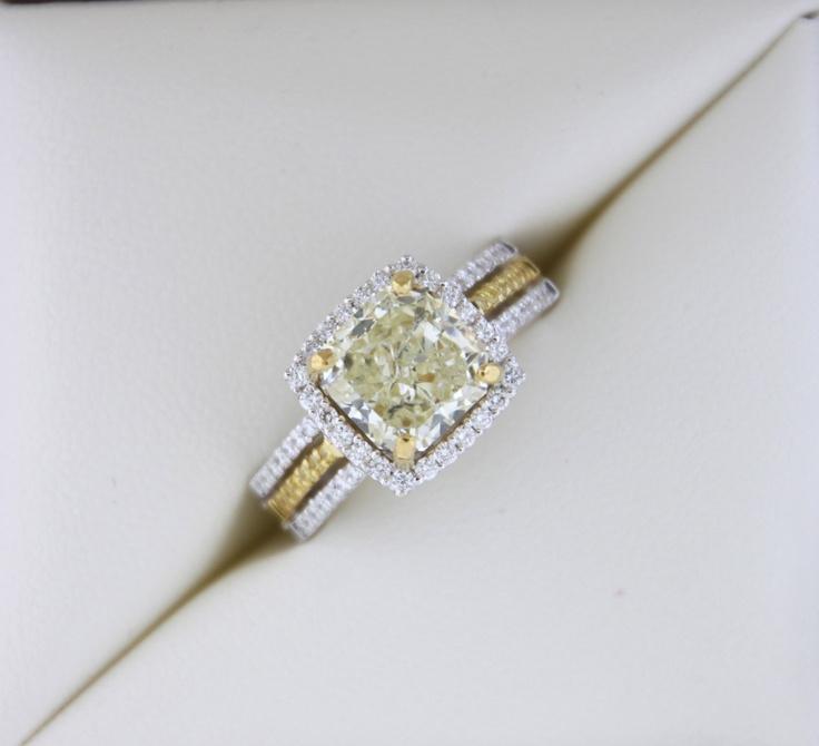 Radiant 378ctw Canary Yellow Diamond Ring by RothschildDiamond.