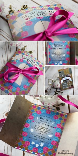 PLEASE follow the link and vote for this entry in Wedding Design-Off! I would be soooooo grateful! Alice in Wonderland wedding invitation & RSVP card