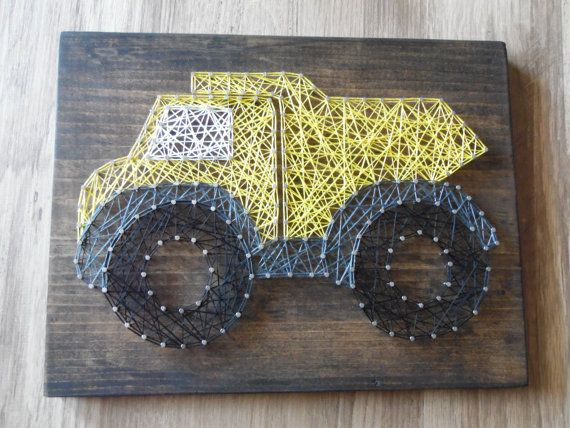 Truck String Art Dump Truck String Art Boy by kreationsbykac