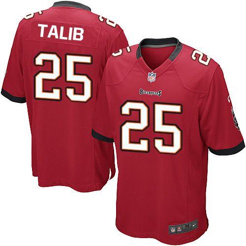 Men Nike Tampa Bay Buccaneers #25 Aqib Talib Limited Red Team Color NFL Jersey Sale