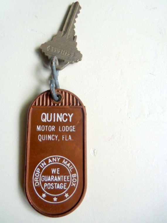 Vintage Hotel Room Key Quincy Motot Lodge by WylieOwlVintage, $12.50