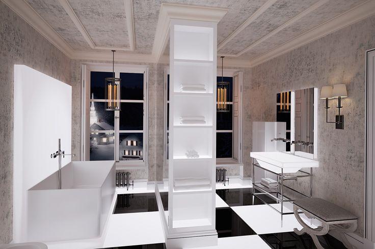 дизайн интерьер ванной комнаты, частные дома в швейцарии