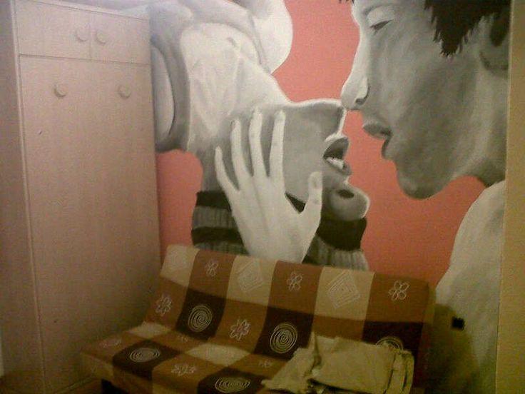 mural en mi habitacion, amor gay <3 <3 les amo <3 <3