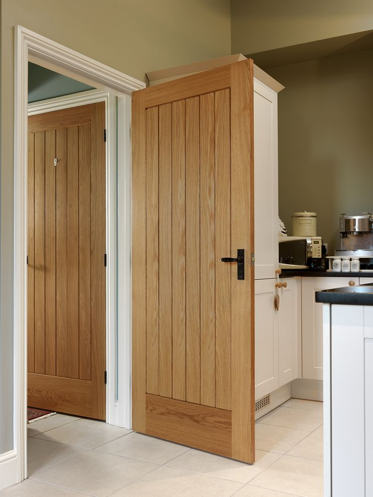 Cottage style boarded oak internal doors are popular for both traditional and contemporary properties #oakdoors  JB Kind's River Oak Thames