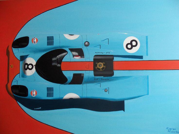 Gulf-Porsche 917, 1970. www.kieranrobertsart.com