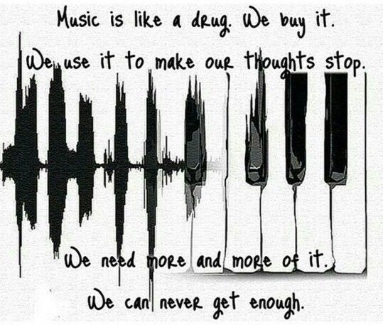 Nothing I'd rather be addicted to. Music is my life. ♡