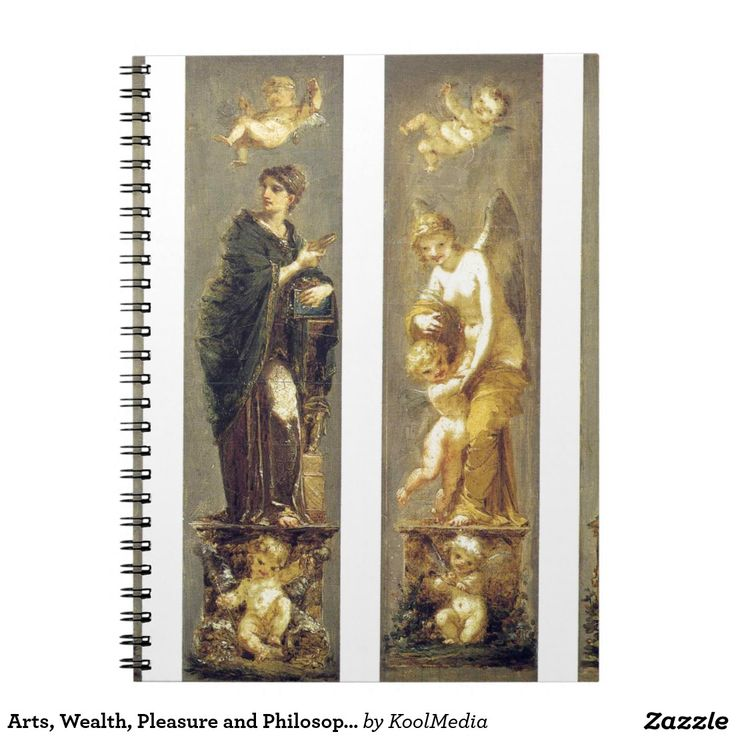 Arts, Wealth, Pleasure and Philosophy by Pierre Spiral Note Book