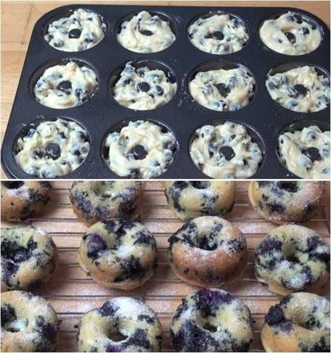 Creative Ideas – DIY Delicious Oven Baked Blueberry Donuts #food #recipe #donuts #oven-bake