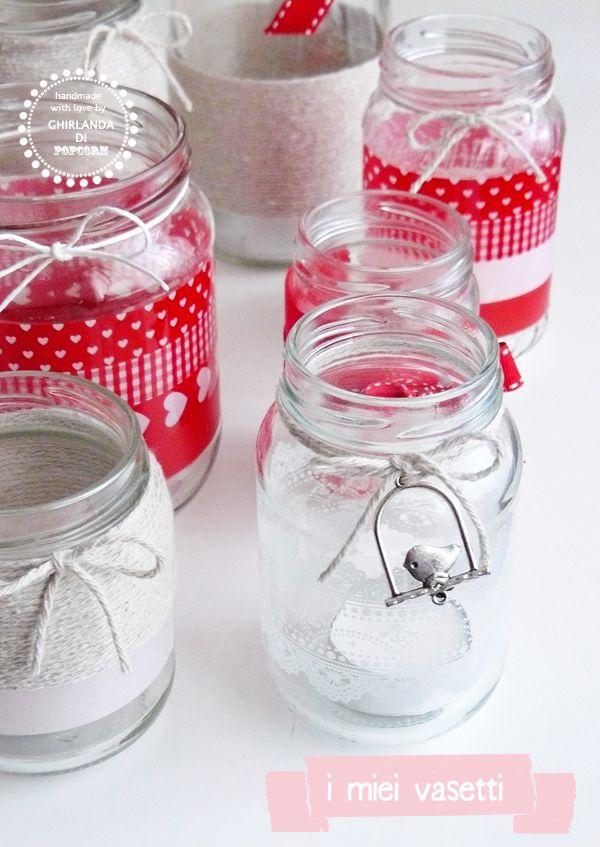 Ghirlanda di Popcorn | progetti creativi: red, pink and neutral..my jars