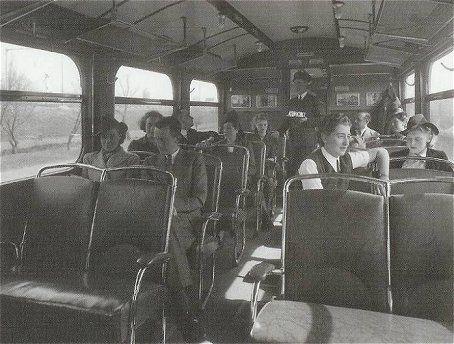 Koffieverkoper in de trein