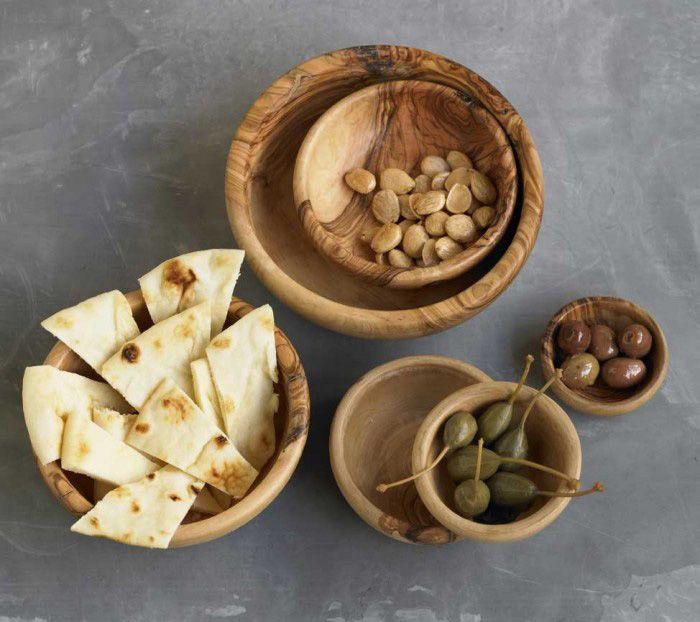 Olive wood set