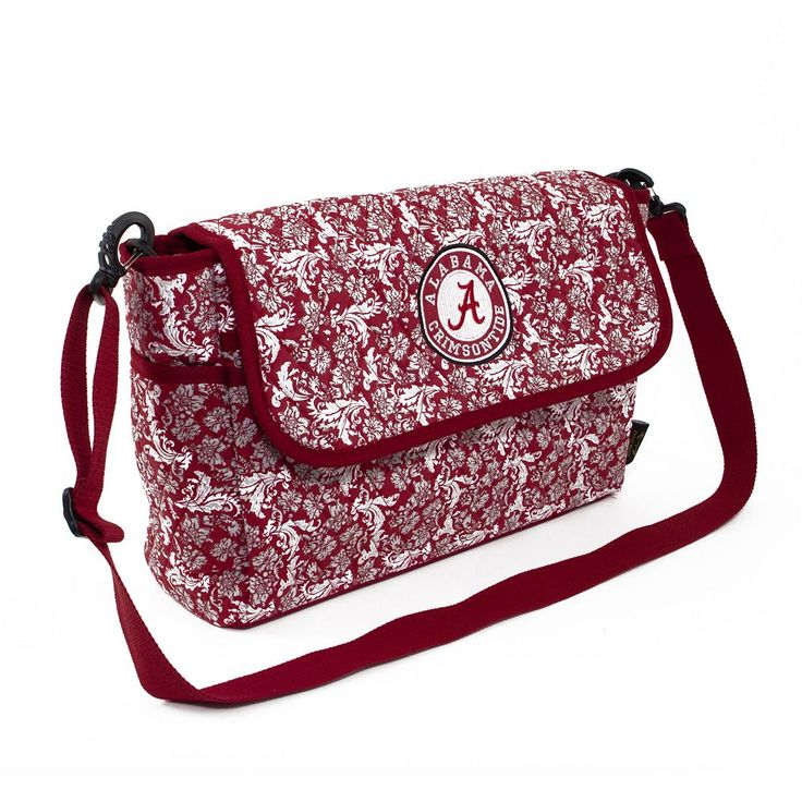 Alabama Crimson Tide Bloom Messenger Bag, Multicolor
