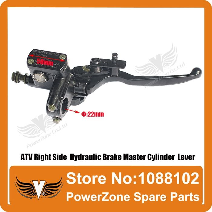 19.90$  Watch here - http://alil8o.shopchina.info/go.php?t=1899653790 - ATV Right Side Hydraulic Brake Master Cylinder  Lever Fit To  50cc 110cc 125cc 150cc 250cc ATV Quad  Free shipping  #buyonlinewebsite