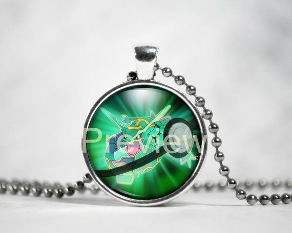 Rayquaza Pokemon Pendant Pokemon Necklace with by PokemonyByAnn