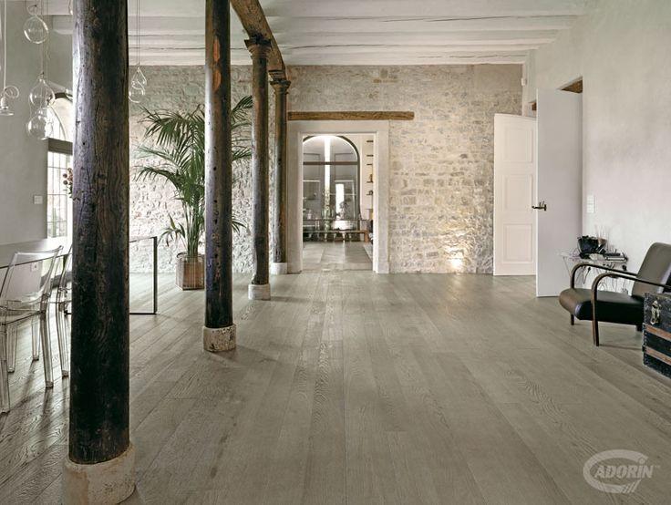 Rovere Grigio Sabbia Cadorin Parquet listoni tre strati. Planks three layers Grey oak. #cadorin oak wood flooring
