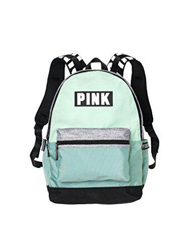 3f622488d3 Victorias Secret Pink Campus Backpack Mint  White PINK Logo ...