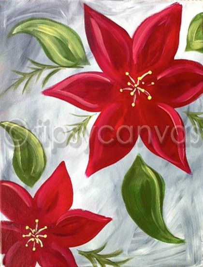 Christmas painting by Tipsy Canvas Corpus Christi