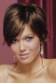 short brown hair with blonde highlights | Short Hairstyles with dark color and great highlights