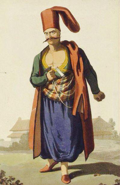 Ottoman clothing of a 'Bostanci'