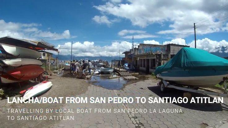 Boat San Pedro La Laguna to Santiago Atitlan Lake Atitlan
