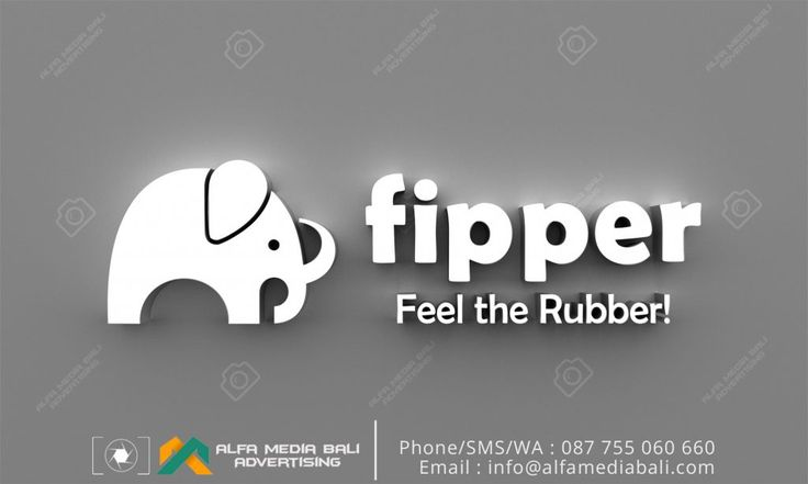Huruf timbul Akrilik Acrylic Fipper | Alfa Media Bali