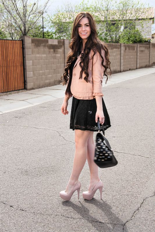 Negro Rosado Vestido Largos Con Blazer Vestidos TlF1cKJ3