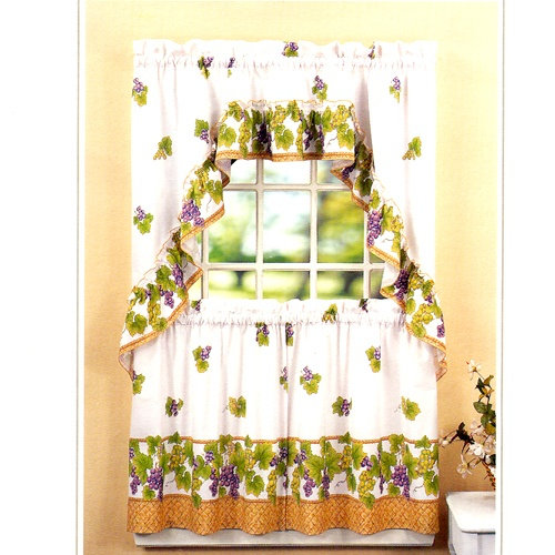 Grape Vine Kitchen Curtains