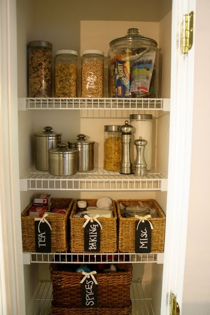 Kitchen closet organization