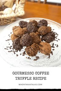 Gourmesso Coffee Truffle Recipe | Looking for a way to make coffee truffles using coffee capsules? My Gourmesso Coffee Truffle Recipe is just what you're after! With dairy-free alternatives.