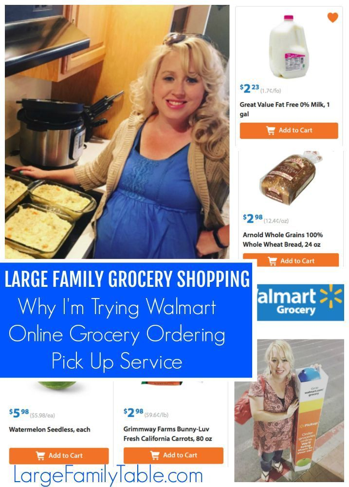 Large Family Grocery Shopping: Why I'm Trying Walmart Online