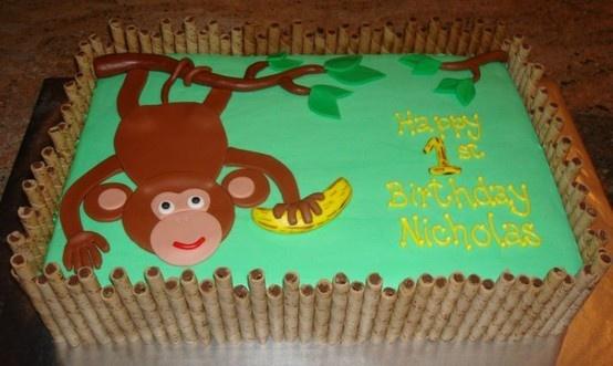 monkey cakes! jungle-baby-shower: Jungles Birthday Cakes Kids, Cakes Ideas, Baby Shower Cakes, Monkey Cakes, Cute Ideas, Boys Birthday Cakes, Parties Ideas, Birthday Monkey, Birthday Ideas