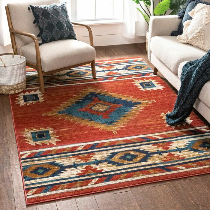 Tulsa Lea Southwestern Geometric Crimson Area Rug In 2020 Well Woven Area Rugs 8x10 Area Rugs