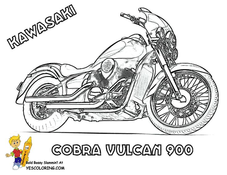 advanced motorcycle coloring pages - photo#5
