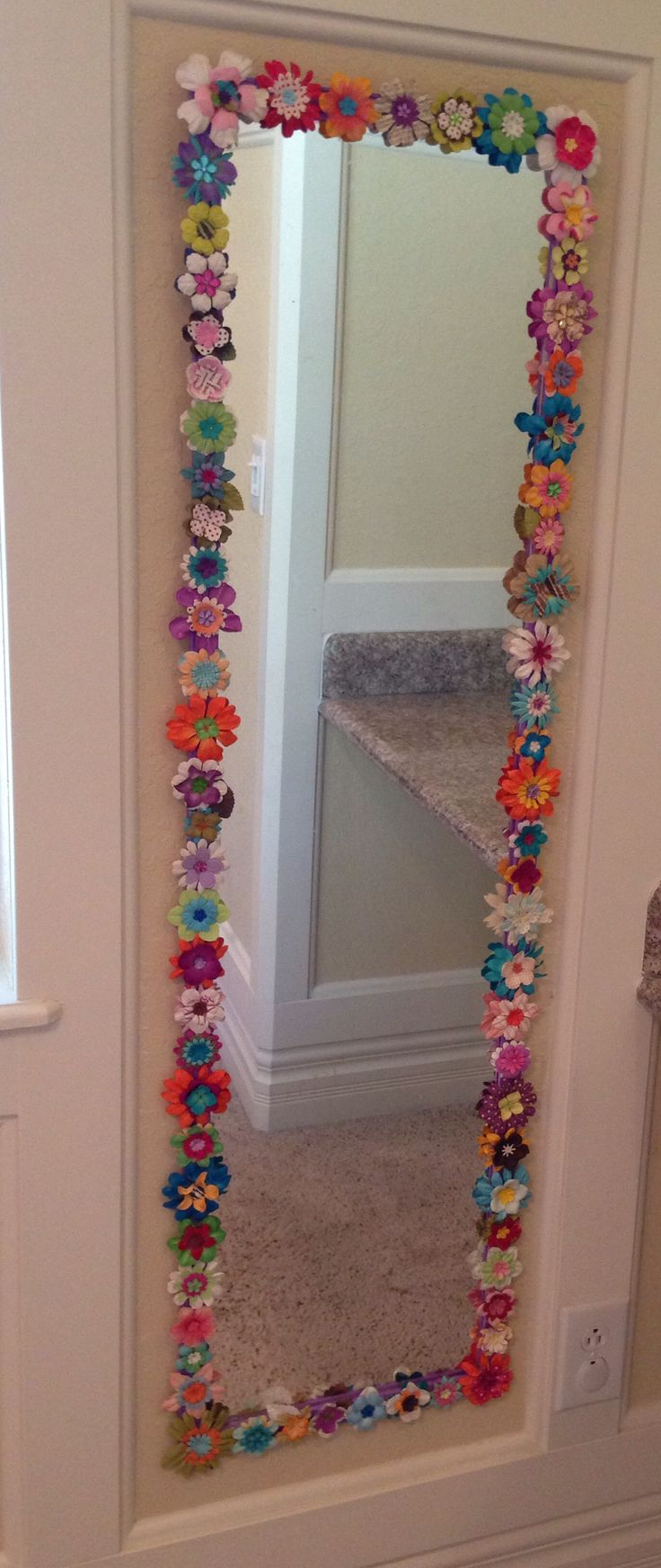 140 best images about mirror on pinterest diy bathroom for What kind of paint to use on kitchen cabinets for flower mirror wall art