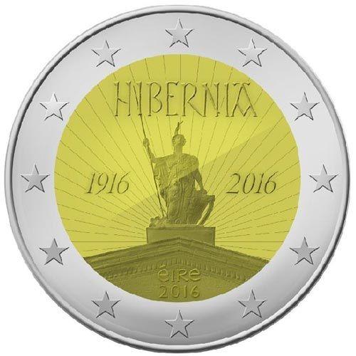 Moneda Conmemorativa 2 Euros Irlanda 2016 Hibernia Tienda Numismatica Y Filatelia Lopez Compra Venta De Moneda Monedas Historia De La Moneda Monedas De Euro