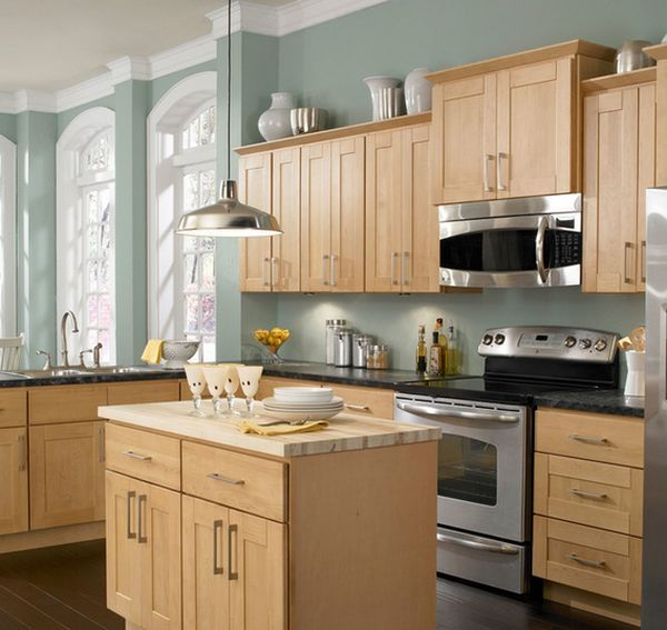 Impressive Ideas Kitchen Paint Colors With Maple Cabinets: Most Popular Kitchen Layout And Floor Plan Ideas