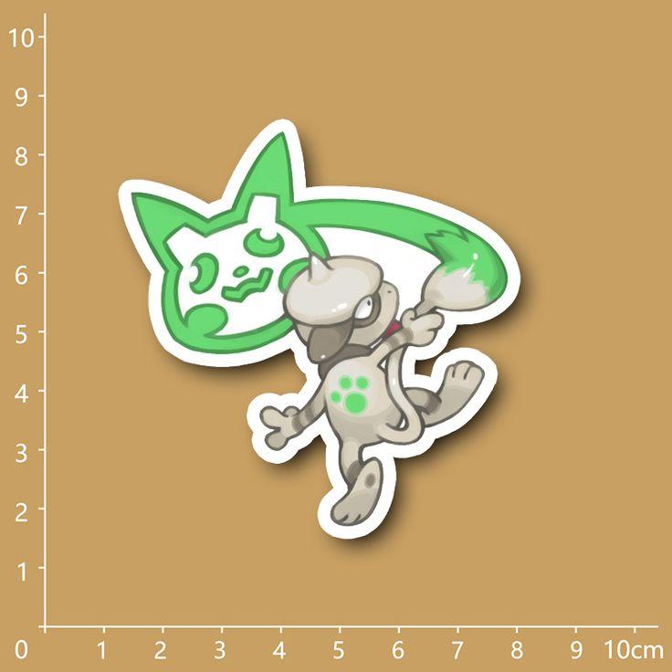Купить товарАнимация Покемон Smeargle 235 Водонепроницаемый ПВХ наклейки для Ноутбуков холодильник…
