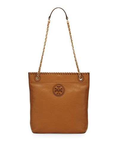 Tory Burch Marion Royal Tan Leather Book Bag - $395.00