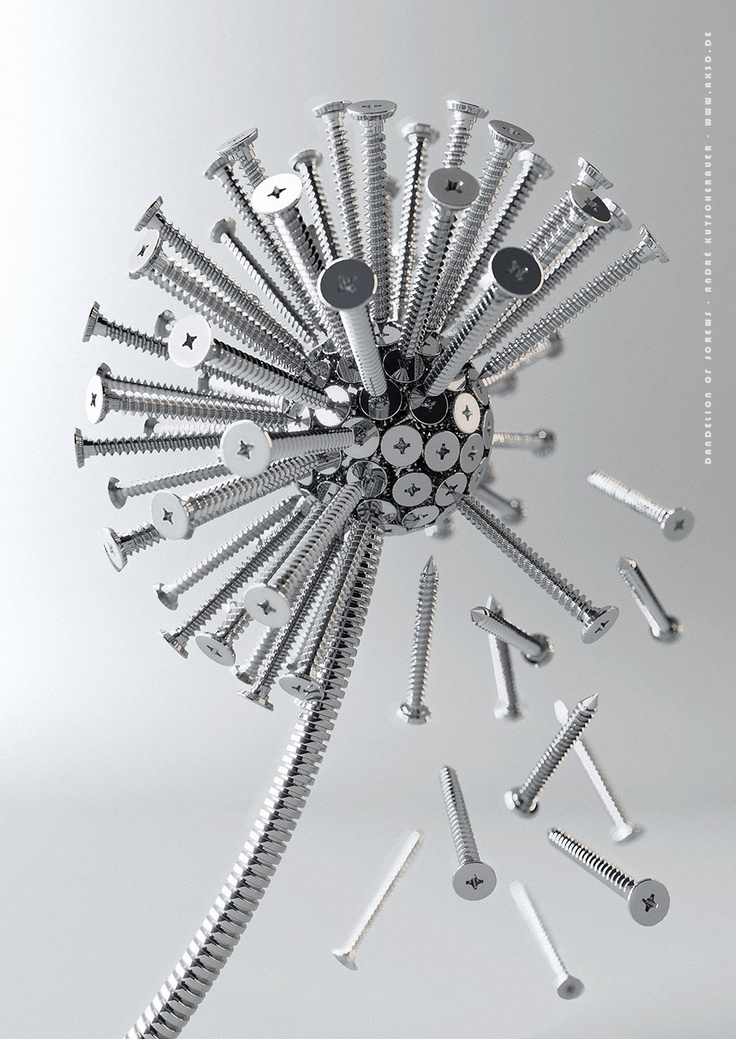 """Dandelion of screws"" (2006), by André Kutscherauer"