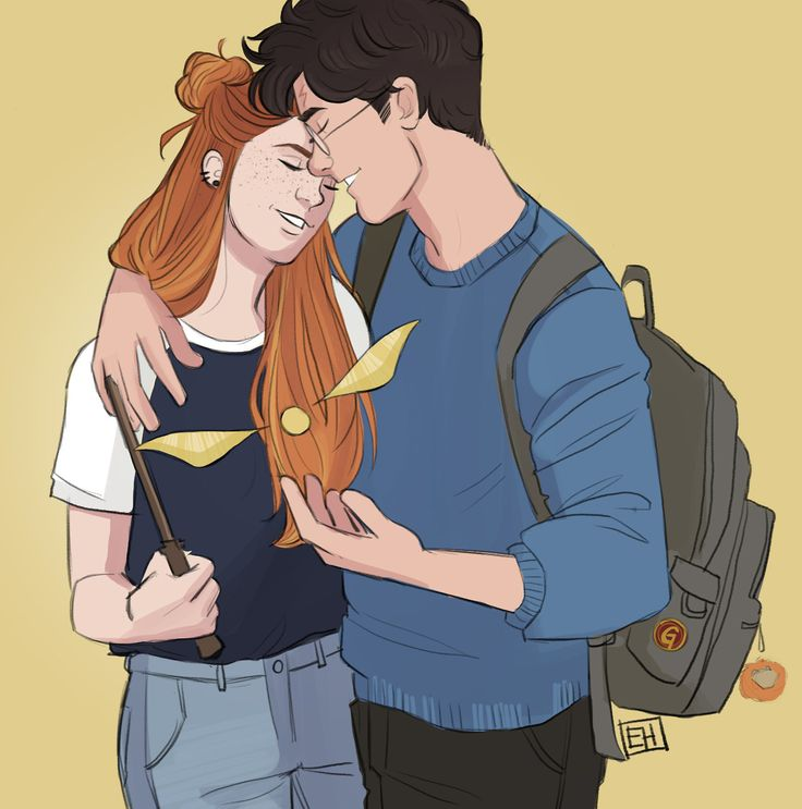 Harry and Ginny. art by emmilinne