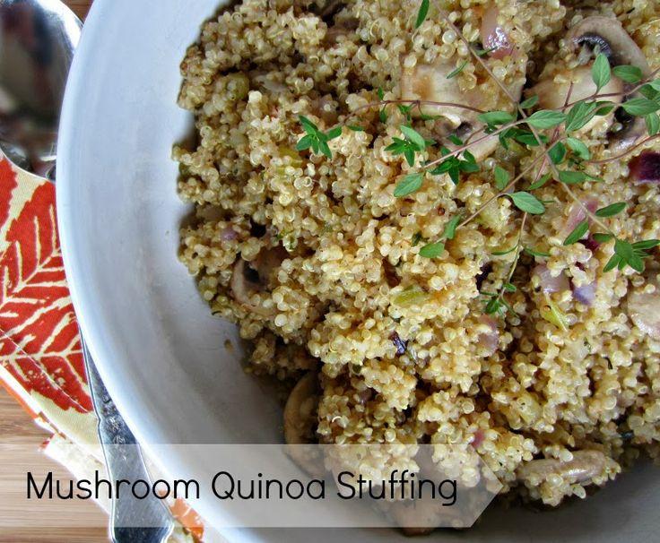 mushroom quinoa stuffing vegan and gluten free mushroom quinoa quinoa ...