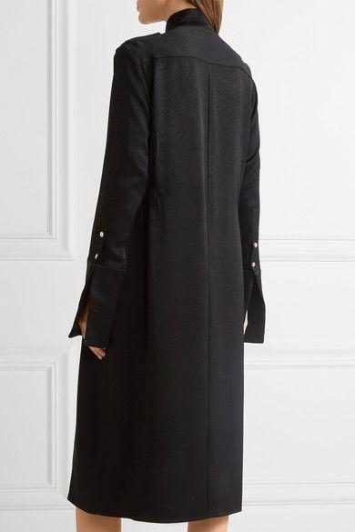 Ellery - Holy Unholy Embellished Satin-crepe Dress - Black - UK14