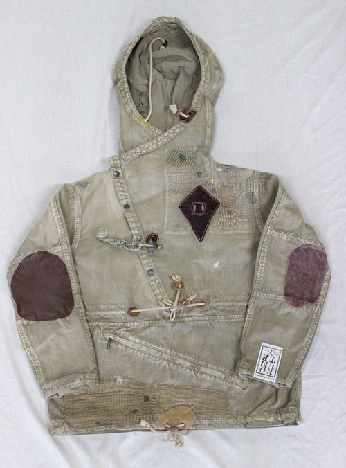 Patched up cool parka!