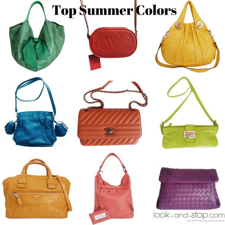 Calabaza, mostaza, azul o coral son algunos de los Top Summer Colors... ¡Ponle color a tu look en www.look-and-stop.com con estos complementos de marcas de lujo: #loewe #balenciaga #valentino #gucci #chanel #bottegaveneta #fendi #marcjacobs!