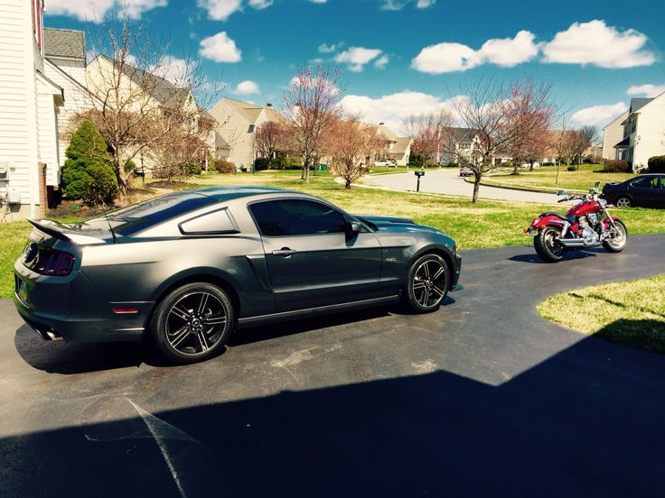 Customized Mustang >> 2014 Mustang GT/CS & 2003 Honda VTX 1800 F customized with ...