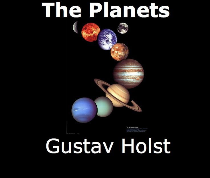 Smartboard lesson files by music teacher Alison Friedman. Link takes you to her website where she shares around 50 Smartboard music lesson files. Image shown is from one of her files on Gustav Holst's Planet Suite