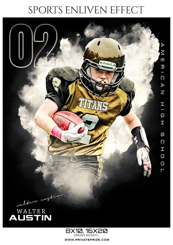 Walter Austin Football Sports Enliven Effects Photography Template Photography Templates Photoshop Photography Sports